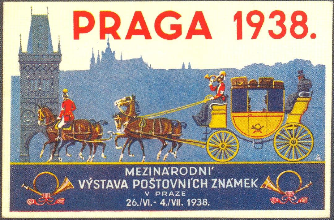 Picture-postcard for the PRAGA 1938 International Stamp Exhibition