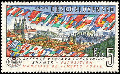 icture of Postage Stamp for the PRAGA 1962 World Stamp Exhibition
