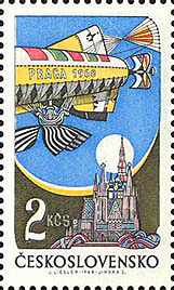 Picture of Stamp for the PRAGA 1968 World Stamp Exhibition