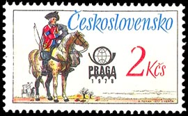 Picture of Postal uniforms – Postage Stamp for the PRAGA 1978 World Stamp Exhibition