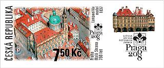 Obrázek známky vydané k výročí Malé Strany