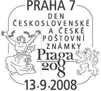 """Razítko - """"Den československé a české poštovní známky"""""""