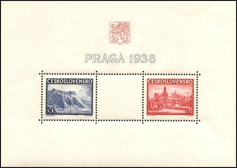 Picture of Block of Stamps for the PRAGA 1938 International Stamp Exhibition
