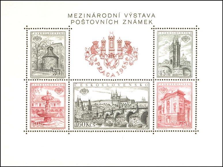 Picture of Block for the PRAGA 1955 International Stamp Exhibition