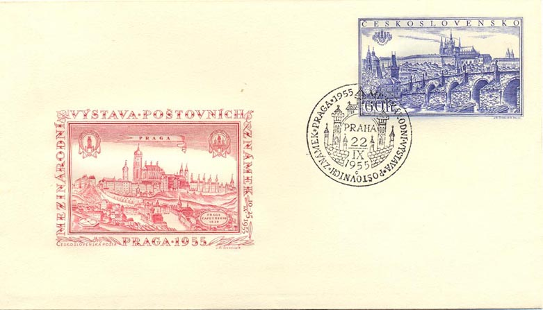 Picture of Stationery envelope for advertising the PRAGA 1955 International Stamp Exhibition