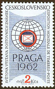 Obrázek - Známka ke Světové výstavě poštovních známek PRAGA 1962
