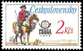Obrázek - Poštovní stejnokroje – známka ke Světové výstavě poštovních známek PRAGA 1978